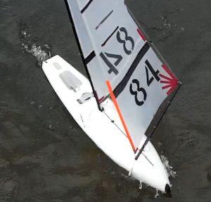 Testing racing D4 IOM yacht